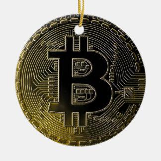 Ornement Rond En Céramique Pièces de monnaie de Bitcoin