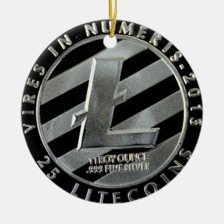 Ornement Rond En Céramique pièces de monnaie de litecoin