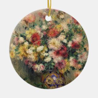 Ornement Rond En Céramique Pierre dahlias de Renoir un  