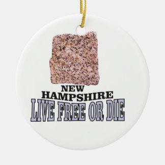 Ornement Rond En Céramique Pierre du New Hampshire