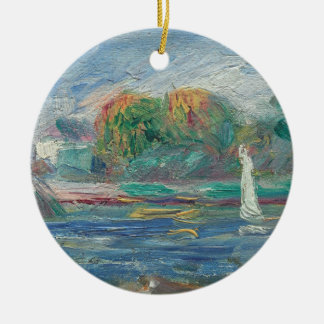 Ornement Rond En Céramique Pierre un Renoir | la rivière bleue