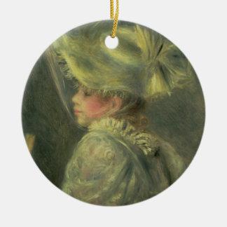 Ornement Rond En Céramique Pierre un Renoir | le casquette blanc