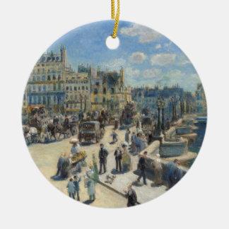 Ornement Rond En Céramique Pierre un Renoir | Pont Neuf, Paris