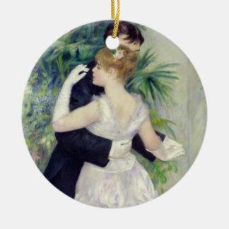 Ornement Rond En Céramique Pierre une danse de Renoir | dans la ville