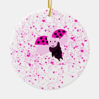 Ornement Rond En Céramique pink coccicat