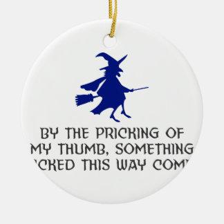 Ornement Rond En Céramique Piquage de ma conception de Halloween de pouce