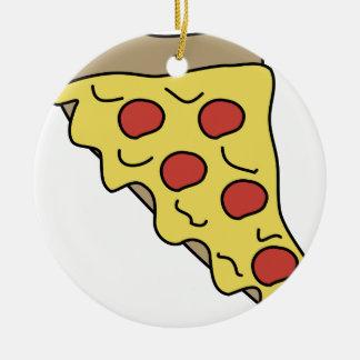 Ornement Rond En Céramique Pizza d'égoutture