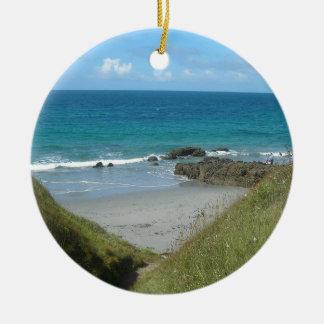 Ornement Rond En Céramique plage