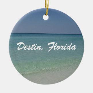 Ornement Rond En Céramique Plage de Destin la Floride