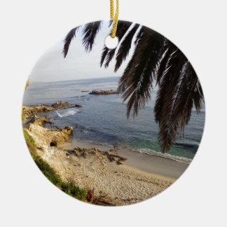 Ornement Rond En Céramique plage du sud de Laguna