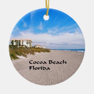 Ornement Rond En Céramique plage la Floride de cacao