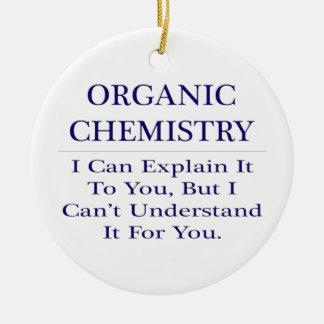 Ornement Rond En Céramique Plaisanterie organique de chimiste. Expliquez pour