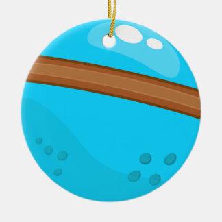 Ornement Rond En Céramique Planète bleue