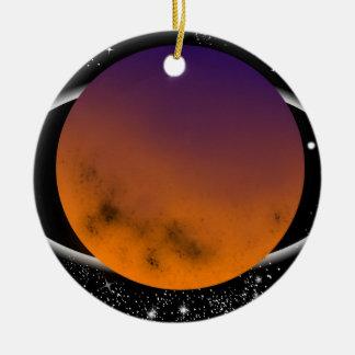 Ornement Rond En Céramique planets