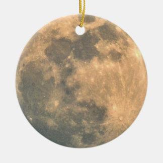 Ornement Rond En Céramique Pleine lune