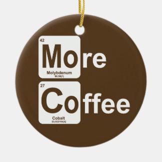 Ornement Rond En Céramique Plus de Tableau périodique de café