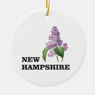 Ornement Rond En Céramique plus du New Hampshire
