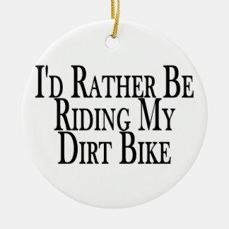 Ornement Rond En Céramique Plutôt monte mon vélo de saleté