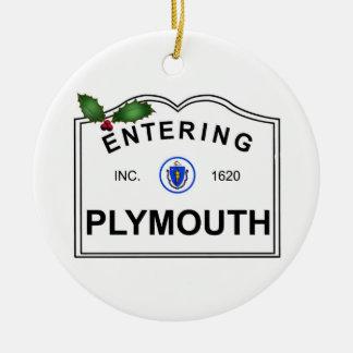 Ornement Rond En Céramique Plymouth mA
