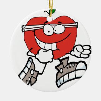 Ornement Rond En Céramique pomme courante