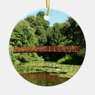 Ornement Rond En Céramique Pont à la ville centennale le Maryland d'Ellicott