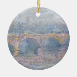 Ornement Rond En Céramique Pont de Claude Monet | Waterloo, Londres, au