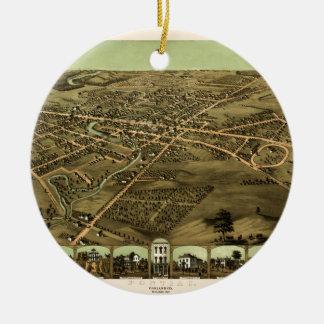 Ornement Rond En Céramique Pontiac Michigan 1867