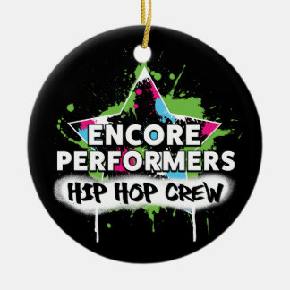 Ornement Rond En Céramique PORCELAINE d'ornement d'ÉQUIPE de hip hop
