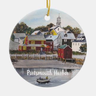 Ornement Rond En Céramique Port de Portsmouth, New Hampshire