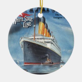 Ornement Rond En Céramique Poster vintage titanique original 1912