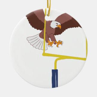 Ornement Rond En Céramique poteau de but d'aigle
