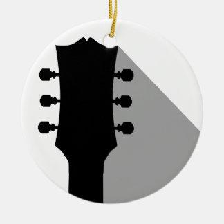 Ornement Rond En Céramique Poupée de guitare avec l'ombre