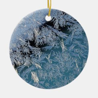 Ornement Rond En Céramique Premier art photographique dur de Frost