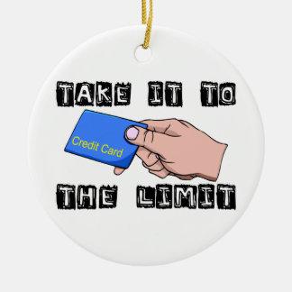Ornement Rond En Céramique Prenez-le à la carte de crédit de limite