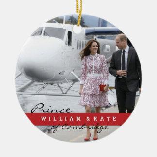 Ornement Rond En Céramique Prince William et Catherine