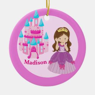 Ornement Rond En Céramique Princesse mignonne faite sur commande Girl