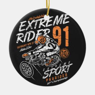 Ornement Rond En Céramique Pro cavalier BMX de cavalier extrême