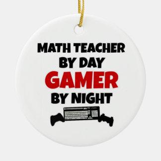 Ornement Rond En Céramique Professeur de maths par le Gamer de jour par nuit