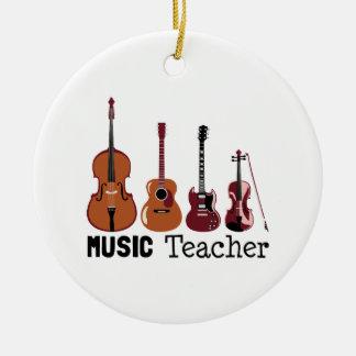 Ornement Rond En Céramique Professeur de musique