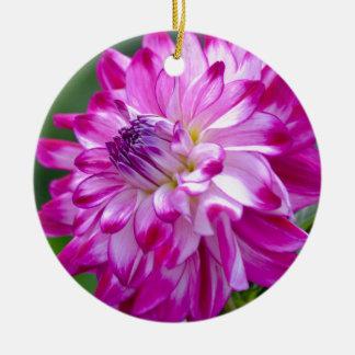Ornement Rond En Céramique Prune Flora