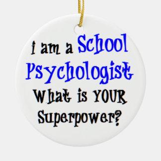 Ornement Rond En Céramique psychologue d'école