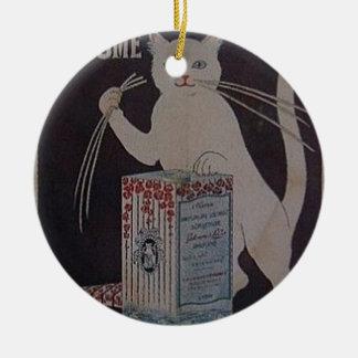 Ornement Rond En Céramique Publicité française vintage - chats