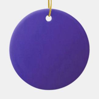 Ornement Rond En Céramique Quand vous AIMEZ, vous obtenez la base bleu-foncé