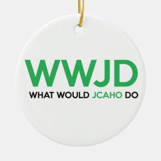 Ornement Rond En Céramique Que JCAHO ferait-il ?