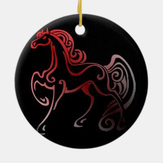 Ornement Rond En Céramique Queues de cheval