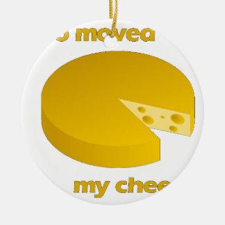 Ornement Rond En Céramique Qui a déplacé le fromage