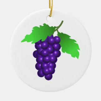 Ornement Rond En Céramique Raisins