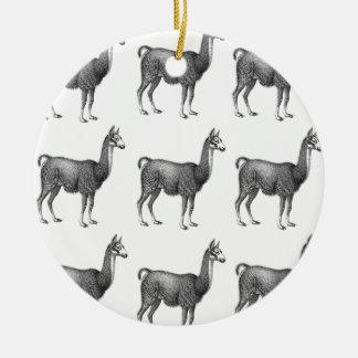 Ornement Rond En Céramique rangées de lama