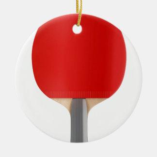 Ornement Rond En Céramique Raquette de ping-pong