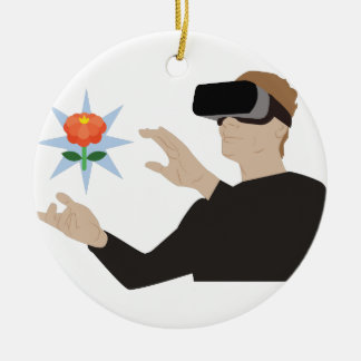 Ornement Rond En Céramique Réalité virtuelle
